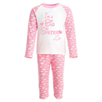 kids pink pyjamas big sister