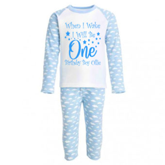 pyjamas blue birthday