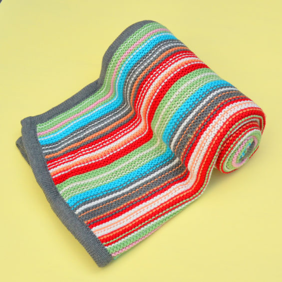 Knit Colourful Blanket