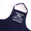 navy adult apron
