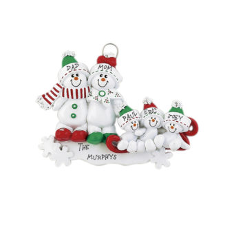Christmas 5 Family Ornaments