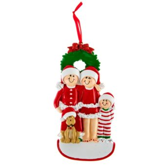Christmas Family Ornament With Dog