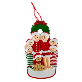 Christmas 6 Family Ornaments