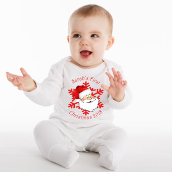 Personalised Christmas Baby Grows
