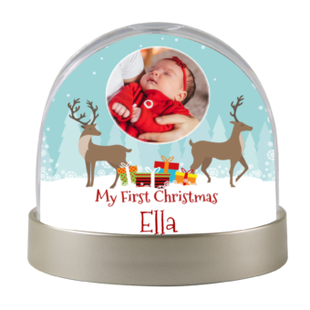 Personalised Christmas Snow Dome
