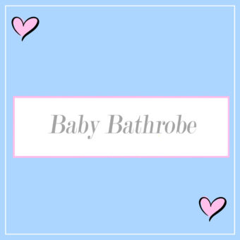 Personalised Baby Bathrobes
